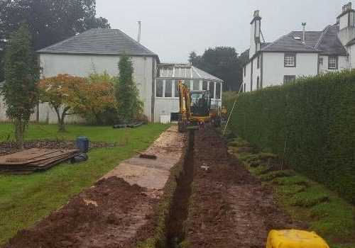 Drainage At Colquhalzie House, By Auchterarder