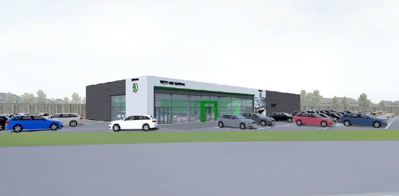 New Showroom For Skoda, Stirling